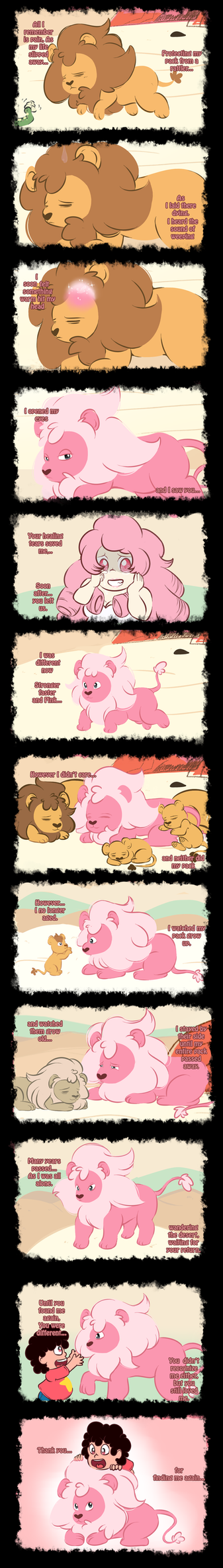 Steven Universe_-_Lion Comic by ProjectHalfbreed