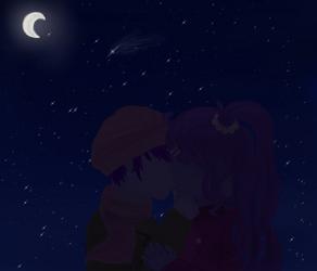 A Goodnight Kiss Under the Stars by Miraiikino