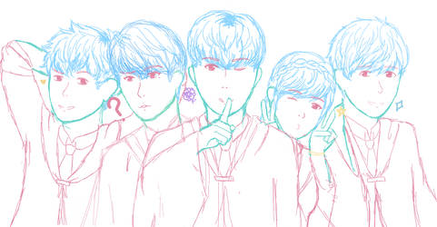 a bunch of sketches to never be finished (wip) by Miraiikino