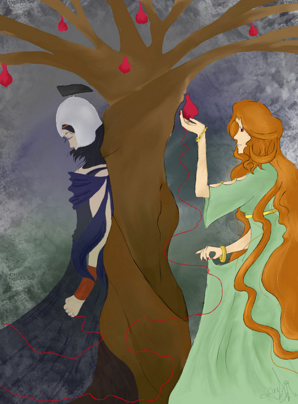 Art trade - red string of fate by lilith194