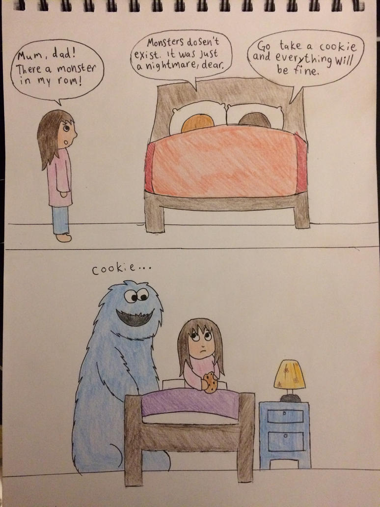 Cookie Monster is everywhere by LinneaSweden98