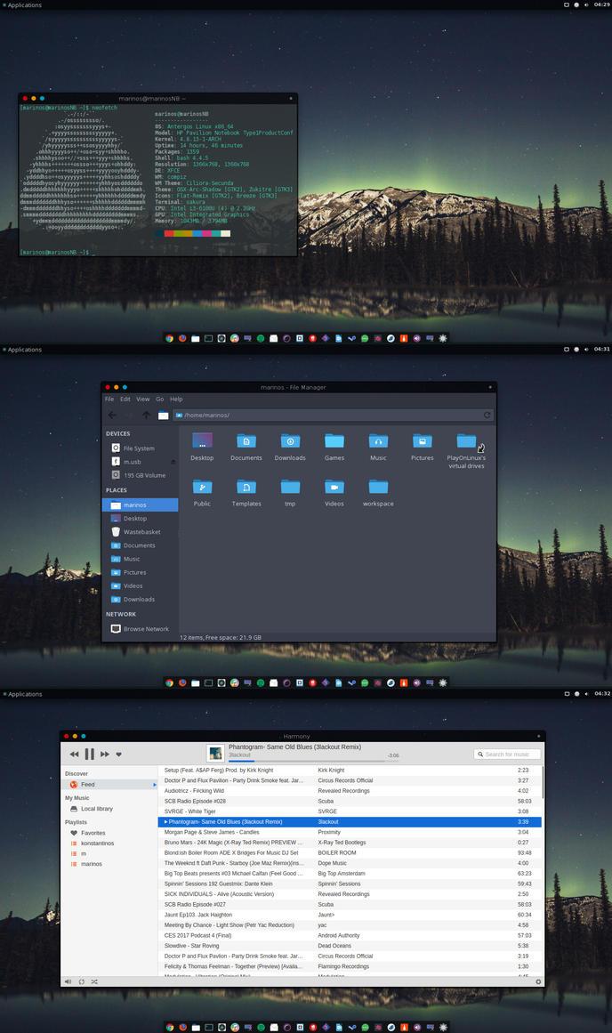 Xfce4 antergos by marinos339