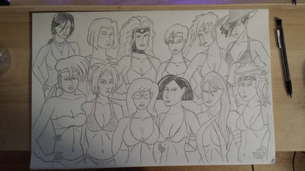 Bikini group photo by JimmyTwoTimes2K9