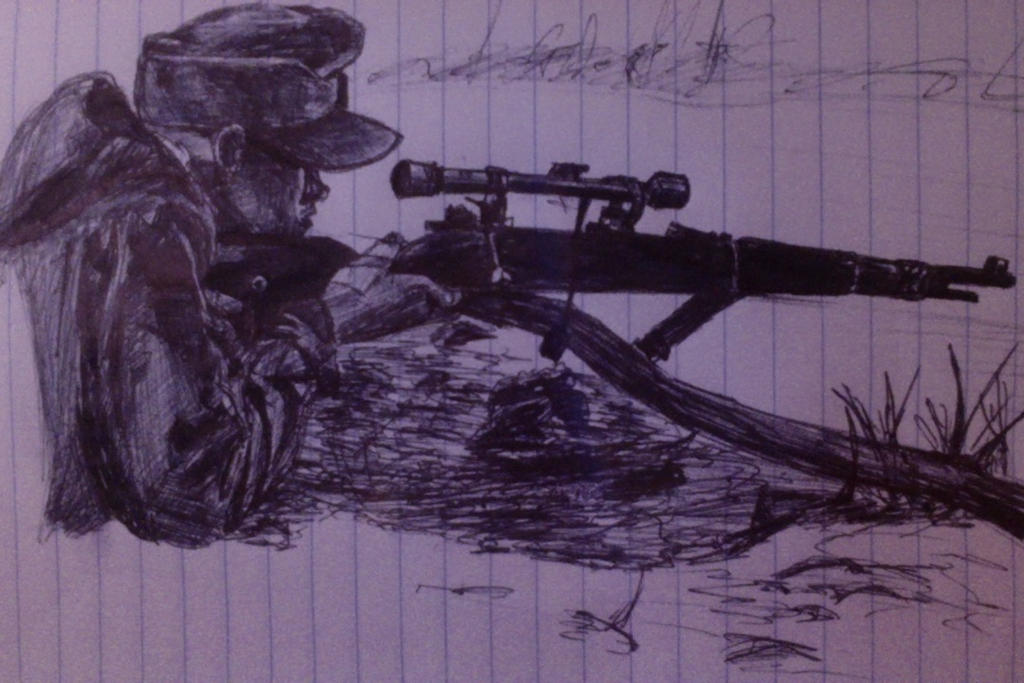Sniper Doodle by leo196