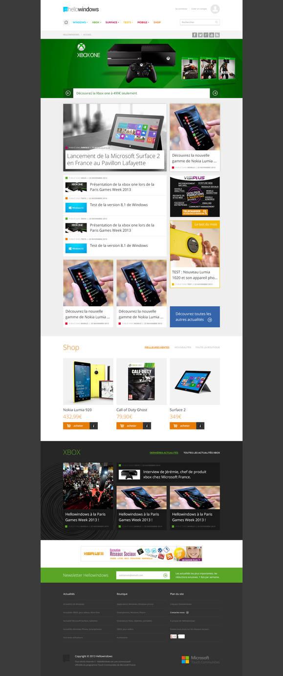 Microsoft Community Webdesign by miko434