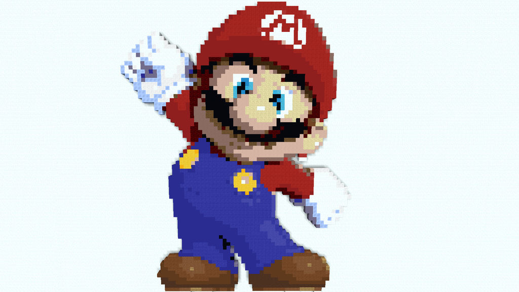 Mario Minecraft Pixel Art Super Mario Bros By Cauchemarr On Deviantart