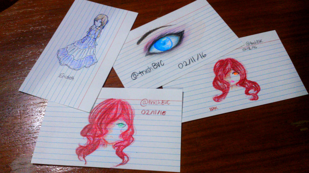 index cards design
