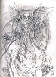 Rose Reaper by blackdahlia