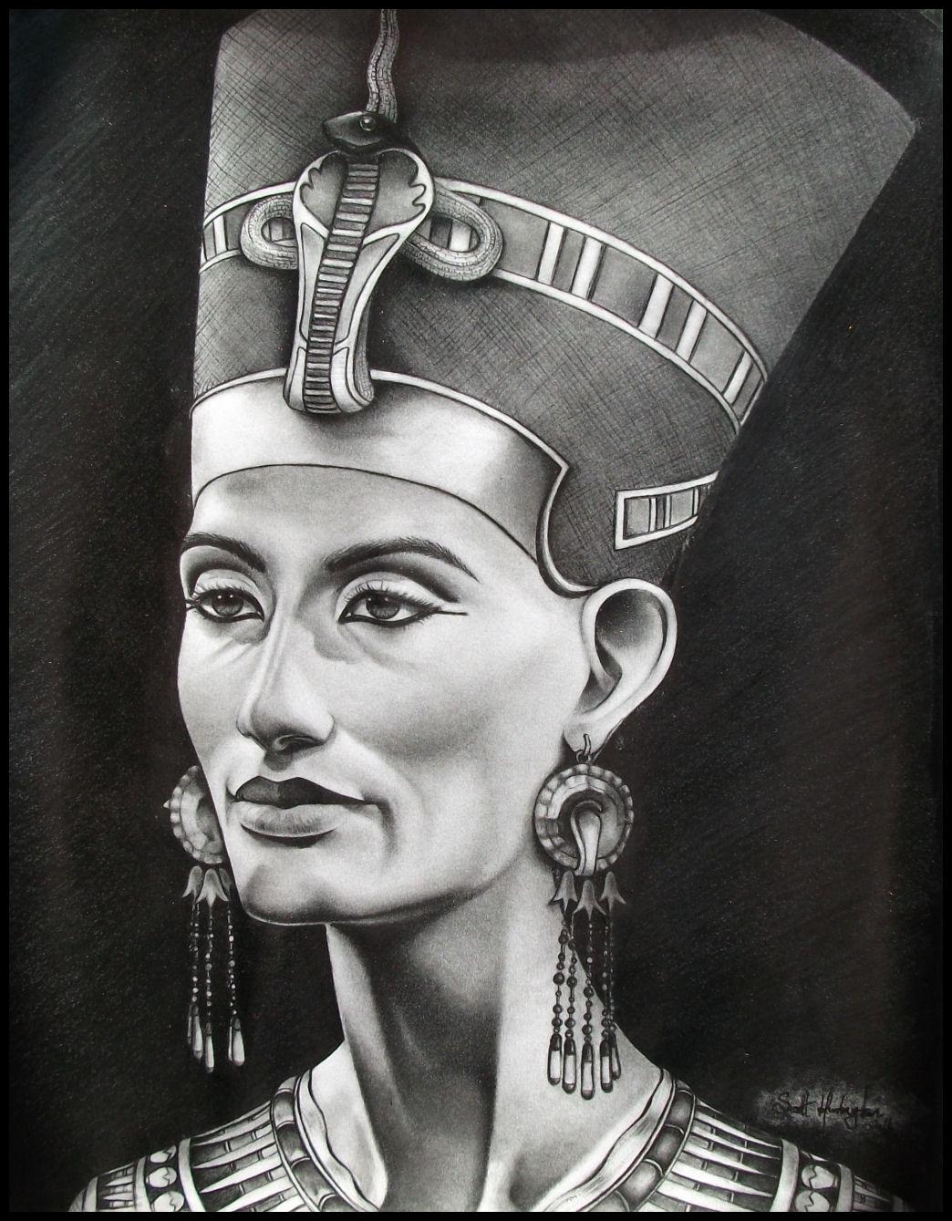 Queen Nefertiti by Skaughtt on DeviantArt