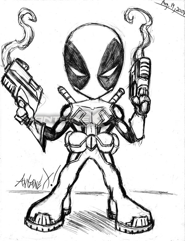 Deadpool chibi sketch by antoine x on deviantart for Chibi deadpool coloring pages