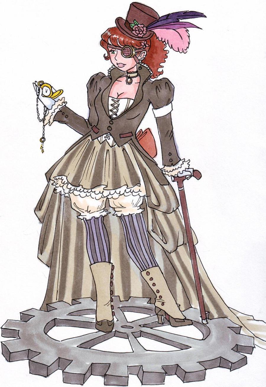 steampunk chick by zaionczyk on deviantart