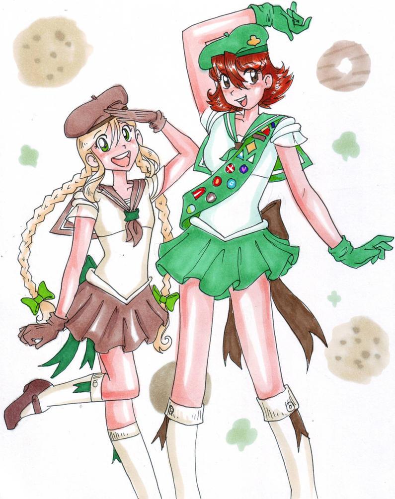 Sailor Girl Scouts by zaionczyk