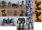 Mech Warrior Miniatures