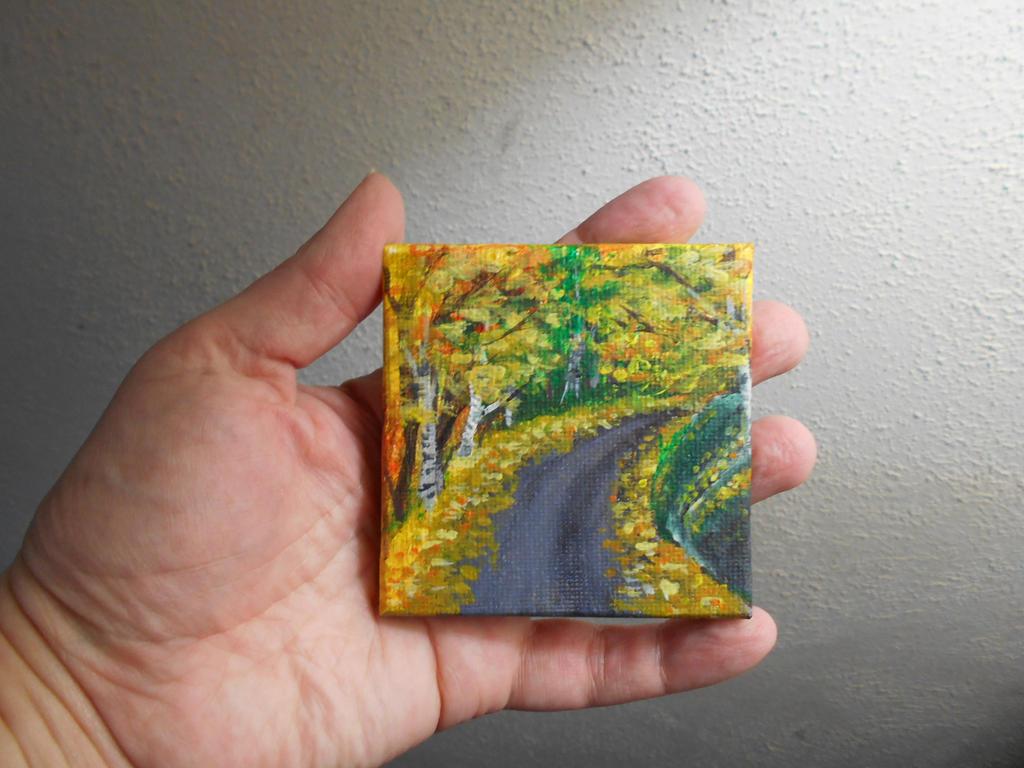 Pocket Painting - leafy road by zaionczyk