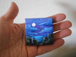 moonlit cliffs