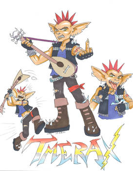 Tmerax the Heavy Metal Goblin Bard