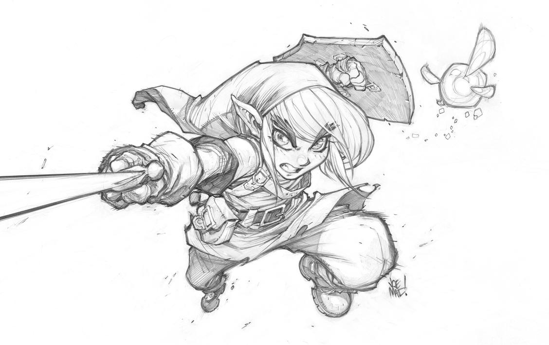 Line Art Zelda : Zelda line art only by joemadx on deviantart