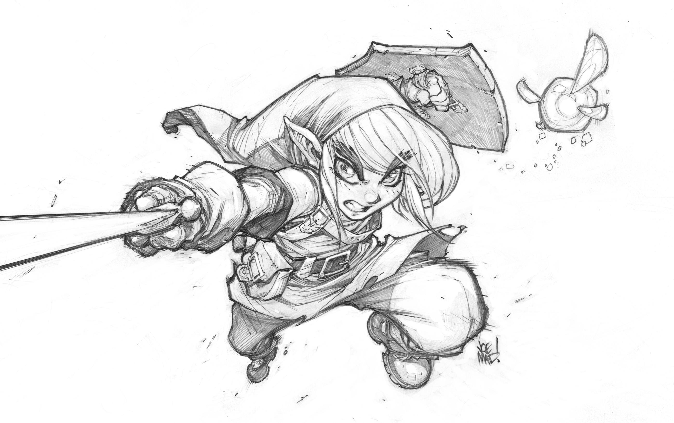 Zelda line art only