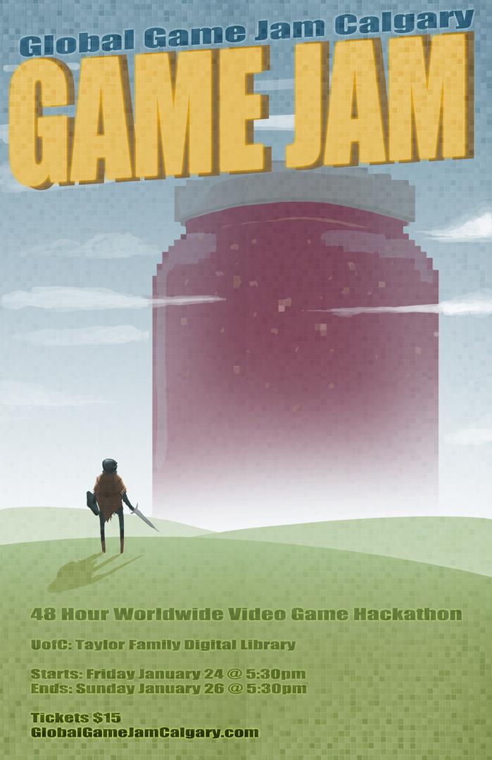 GameJamPoster by DINO-SAWR