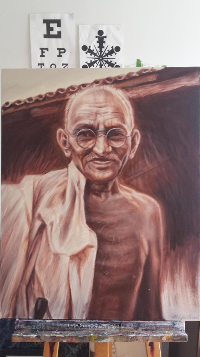 Ghandi by Tibb-the-Artist