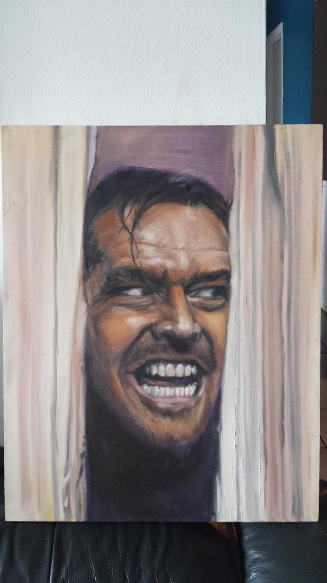 Jack Nicholson the Shining by Tibb-the-Artist