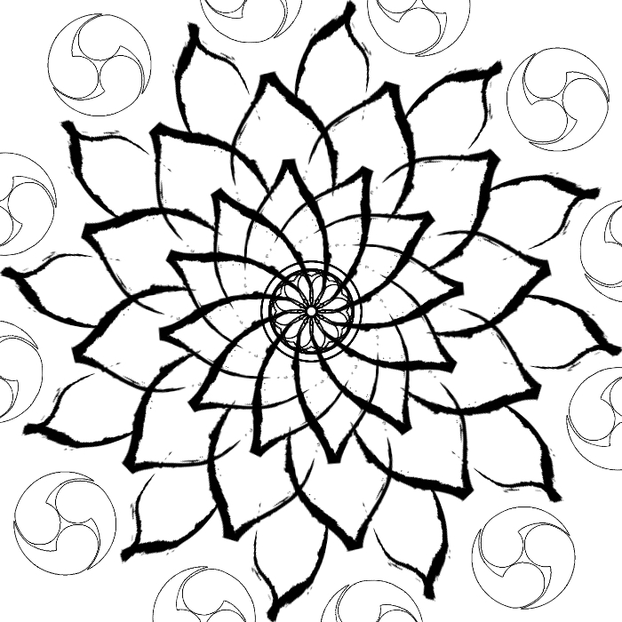 Line Drawing Mandala : Mandala line art by geckoman on deviantart