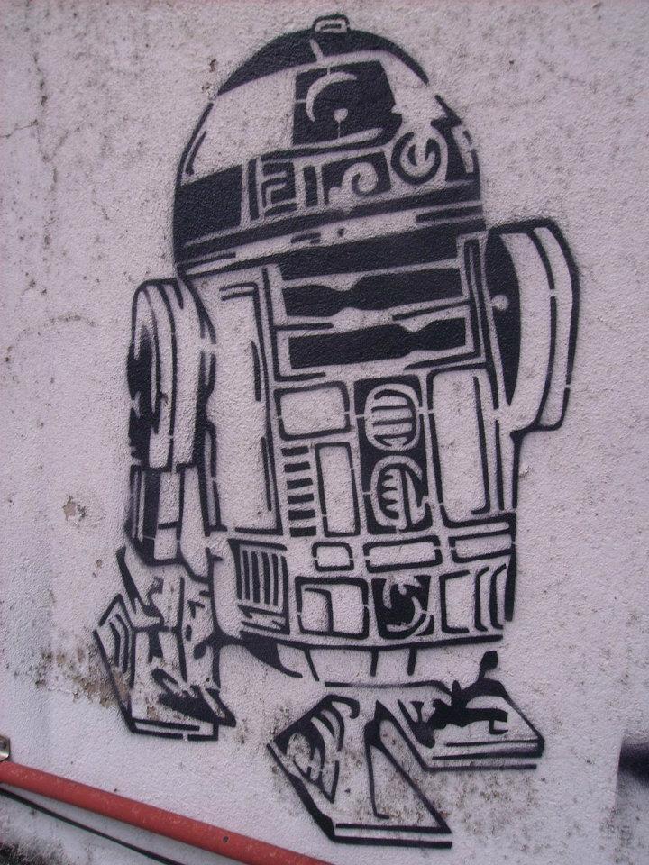 Arturito by Ich-Stencil  R2d2 Stencil