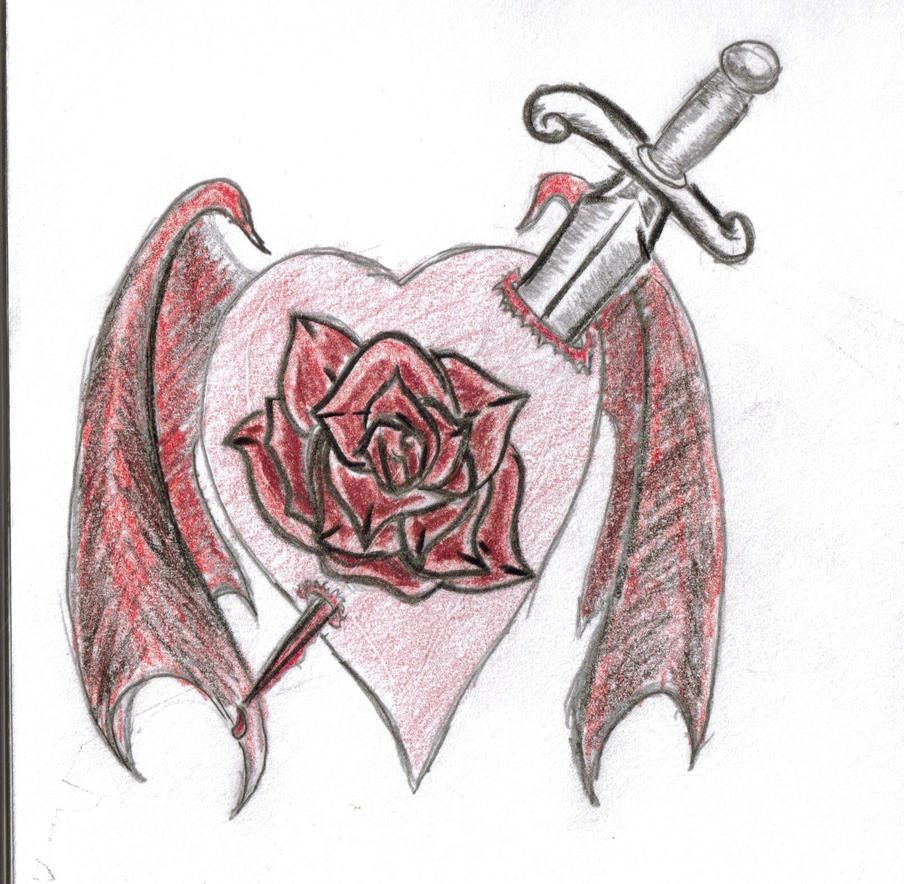 goth heart by snakeeyedtagger on deviantART
