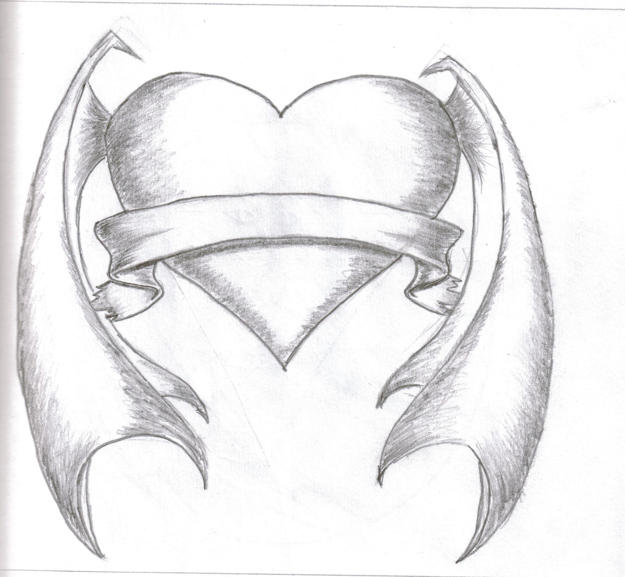 Heart With Rose And Banner: Banner Heart Not Complete By Snakeeyedtagger On DeviantArt