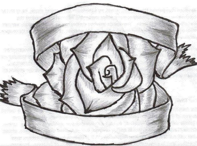 rose with ribbon by snakeeyedtagger on DeviantArt  rose with ribbo...