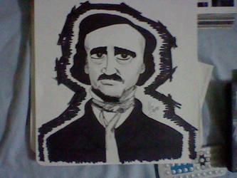Edgar Allan Poe portrait by Vic-Neko