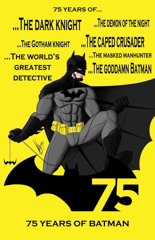 Batman 75 Years by Vic-Neko