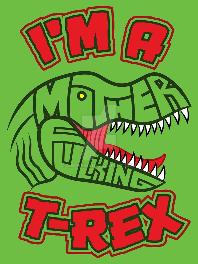 T-Rex tshirt by Vic-Neko