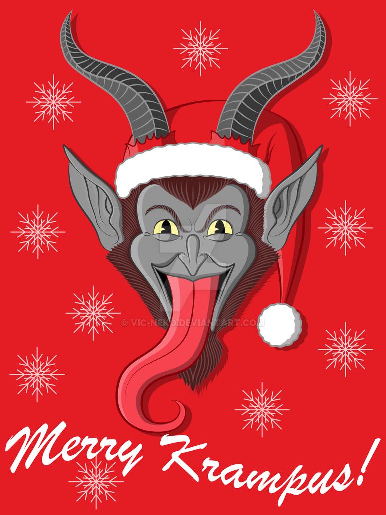Merry Krampus shirt by Vic-Neko