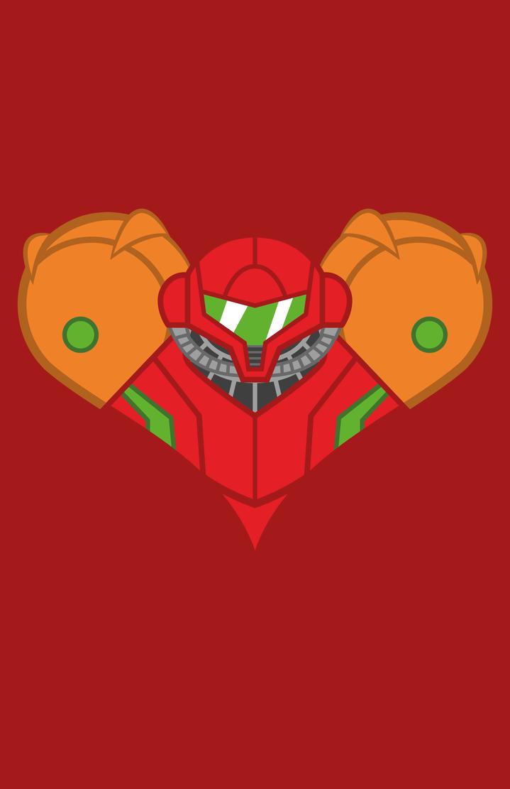 Samus Heart shirt by Vic-Neko