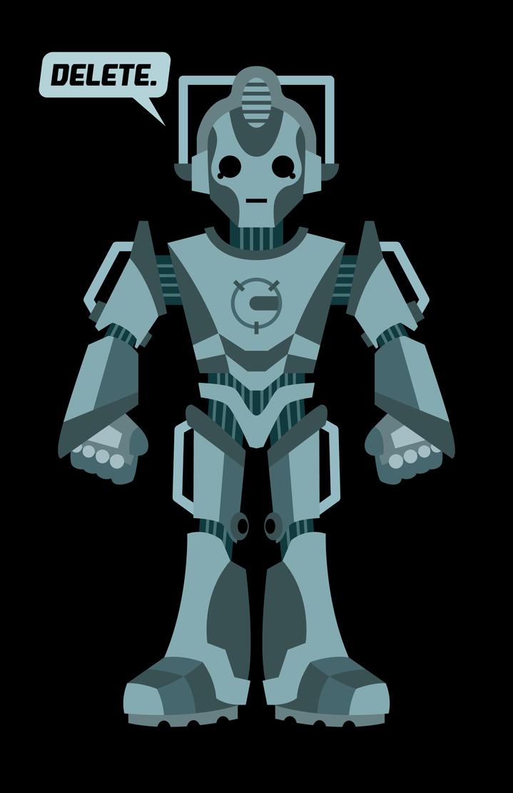 Cyberman shirt by Vic-Neko