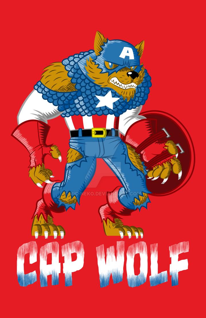 Cap Wolf - shirt by Vic-Neko
