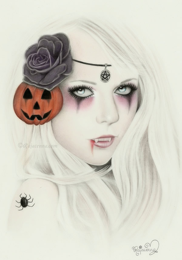 Halloween Mystery Lady by Rajacenna