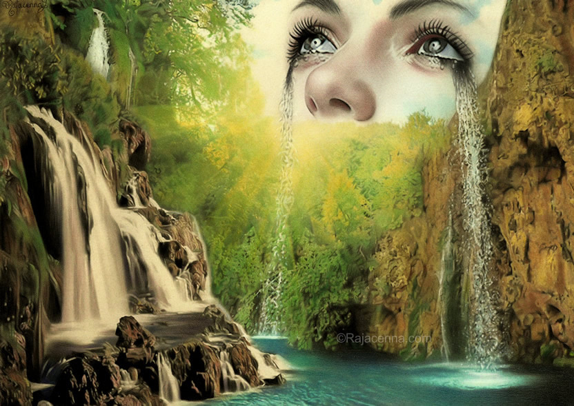 Emotional waterfall by Rajacenna