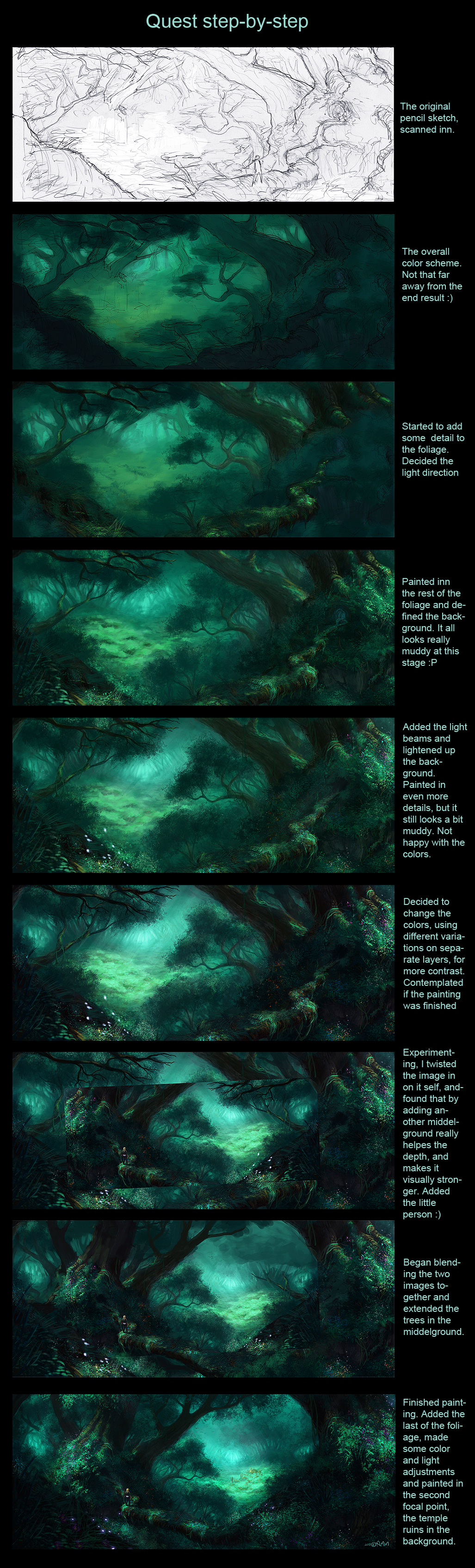 Quest step by step by am markussen on deviantart for Step by step painting tutorial