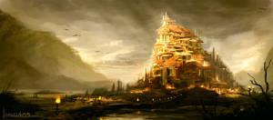 Roman city speed painting by AM-Markussen