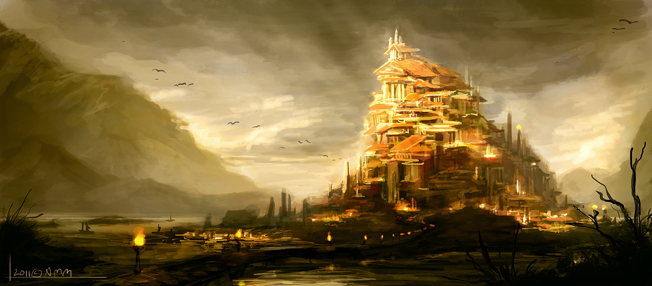 Roman city speed painting by AM-Markussen