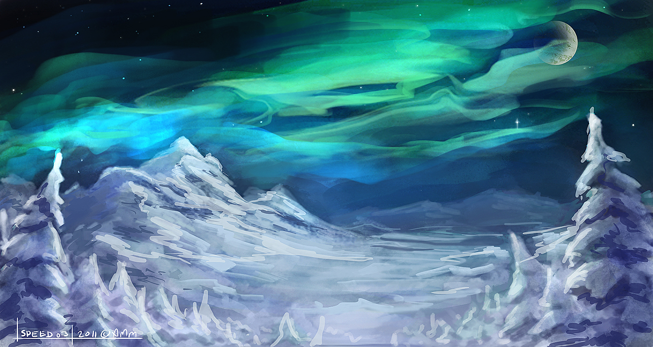 Speed03 - Aurora Borealis by AM-Markussen on DeviantArt