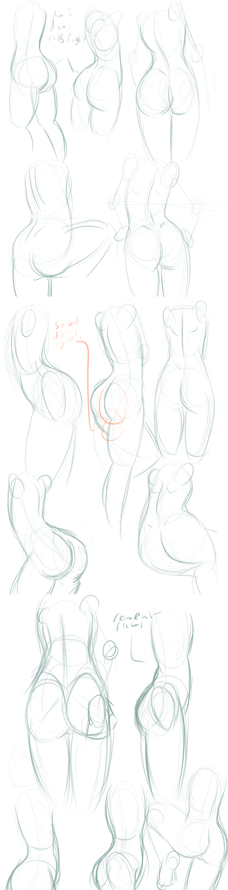 Butt Study by EmeraldEpoch