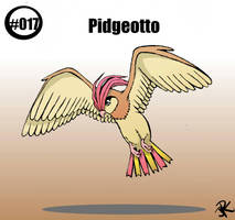 Realistic Pidgeotto (Pokemon #017) by JR-Sketcher