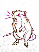Realistic Raticate Concept Sketch  by JR-Sketcher