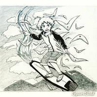 Flying With Skyfish (Inktober Day #1)