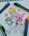 Gender Reversed Mario Characters (Inktober Day#3)