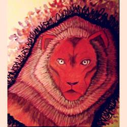 Steven Universe Lion (Fanart Request) by JR-Sketcher