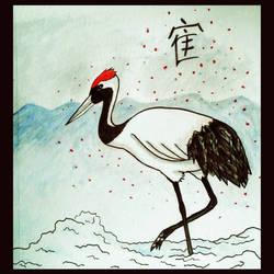 Japanese Crane by JR-Sketcher